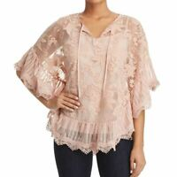 LE GALI NEW Women's Josette Embroidered Mesh 2 In 1 Blouse Shirt Top TEDO