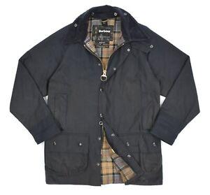 Mens Barbour Beaufort Waxed Jacket Classic Blue Size C38 / 97CM