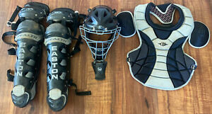 Easton Stealth Adult 15+ Catchers Gear Mask Leg Guards Chest Protector