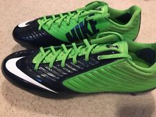 Nike Vapor Speed Low D Mens Football Cleats Size 10.5 Green Navy