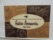 1954 Pontiac Accessories Brochure Radio Mirror Lamp Tires Seat Covers L10234