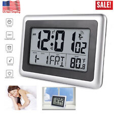 Best Digital Atomic Desk & Wall Clock With Date Temperature 7 language Home USA