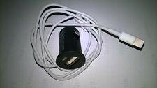 USB KFZ Adapter 12V - 24V 5V 1A+Apple Lightning USB Kabel - 0,9m, Weiß