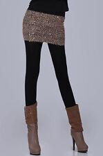 Black Gold Sequin Retro Stretch Micro Mini Tube Pencil Skirt Shirt 71032