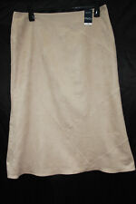 M&Co Mackays Size 18 Beige Patchwork Style Polyester Blend a Line Skirt
