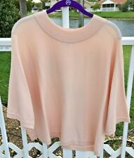 Milly Pink Short Sleeve Knit Top - L - NWOT