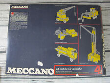 MECCANO #4 Set,  1970's Vintage, 99% Complete, In Box Nice Condition