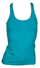 Only Basic Canotta top t-shirt smeraldo canottiera contone elastico donna Tg. S