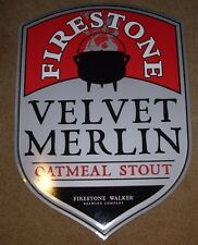 FIRESTONE WALKER velvet merlin METAL TACKER SIGN craft beer brewing brewery