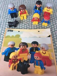 Lego 2750 Duplo Family X6 Figures Used Condition