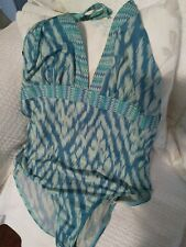 SIZE 16 M&S MARKS & SPENCER - LOVELY HALTER NECK SWIMSUIT - EXCELLENT CONDITION