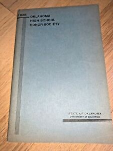 1935 OKLAHOMA HIGH SCHOOL HONOR SOCIETY 90 pages - ALL Oklahoma HIGH SCHOOLS