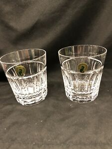 Waterford Crystal Bolton DOF Whiskey Glasses! Set of 2 New
