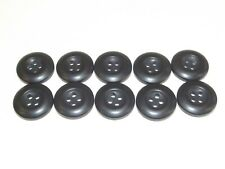 """10 Rothco 3/4"""" Black BDU Military Buttons Camouflage Dress Replacement Button"""