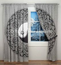 Indian Yin Yang Mandala Curtains Black And White Hippie Tapestry Room Decor Art
