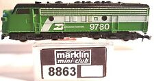 Marklin Z Mini Club 8863 EMD F7 BN Diesel Loco # 9780 w/CC (Tested) LNIB