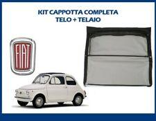 CAPPOTTINA COMPLETA DI TELAIO NERA FIAT 500 F/L/R