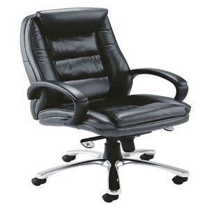 Avior Tuscany Contemporary Executive Leather Black Chair KF72583 [KF72583]