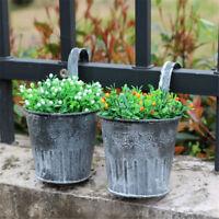 Vintage en métal suspendu planteur pot de fleur balcon jardin plante Home BB