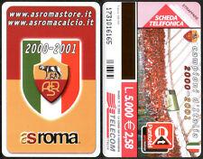 SCHEDA TELEFONICA TELECOM - AS ROMA - CAMPIONI D'ITALIA 2000 - 2001 - NUOVA