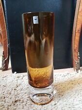 Gralglas Kristall-Vase schwer Mid Century Space Age Modernist Gral bernstein