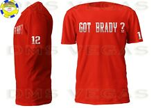 New England Patriots Tom Brady Jersey Tee Shirt Men Size S-5XL SILVER Got Brady?