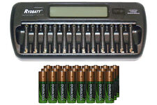 12 Bay AA/AAA LCD Battery Charger + 24-Pack AA 2450 mAh Duracell NiMH Batteries