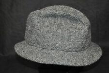 Stetson Harris Tweed Wool Fedora Hat  7 1/4