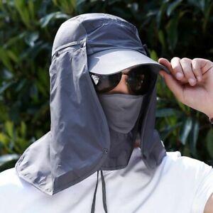 Unisex Sun Protection Hat UV Protection Face Neck Flap Sun Cap Large Wide Brim