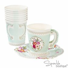 Vintage Style PAPER CUPS & SAUCERS - Tea Party - TRULY SCRUMPTIOUS RANGE IN SHOP