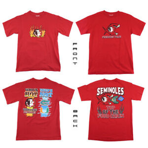 Florida State FSU Seminoles 2 T Shirt Bundle Adult Size Small or Youth XL