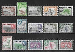 NYASALAND 1953-1954 Mint LH Complete Set of 15 SG #173-187