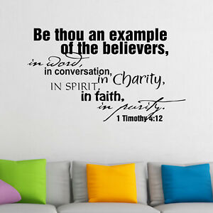 Be Thou An Example Of The Believers Religious Quote Wall Sticker Decal Transfer