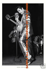 ELVIS PRESLEY IN ALL GOLD LAME OUTFIT 1950`s. AMAZING HEAD TO TOE PHOTOGRAPH
