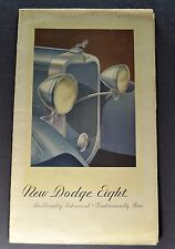 1932 Dodge Eight (8) Sales Brochure Folder Nice Original 32