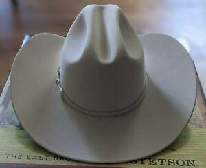 NIB Stetson Hats Skyline Silverbelly 6X Fur Felt Cowboy Hat Sz 7 1/8 $360 6 X