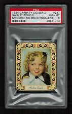 PSA 8 SHIRLEY TEMPLE 1934 Garbaty Cigarette Card #237 Beautiful