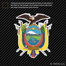 Ecuadorian Coat of Arms Sticker Decal Self Adhesive Vinyl Ecuador flag ECU EC
