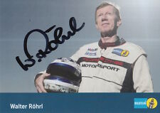 Walter Rohrl Hand Signed Promo Card Rally Legend.