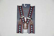 New Club Room Men's One Size Navy Stars & Striped Suspenders