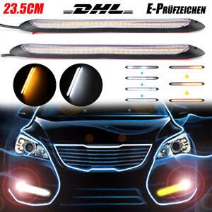 2x 23CM SMD LED Tagfahrleuchten Tagfahrlicht Blinker Streifen DRL E-Prüfzeichen