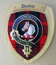 NOS Scottish Clan DUNBAR Oak Tartan Plaque Crest Shield INPROMPTU
