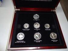 FIFA FUSSBALL WM 2006 - Sammlung mit 7 Münzen in Silber, PP! GUERNSEY BRASILIEN