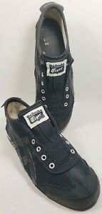 Onitsuka Tiger Women's Athletic Shoes Size 4.5M Black Elastic No Lace Model