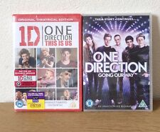 """x2 DVDs 1D ONE DIRECTION """"This Is Us"""" & Going Our Way Dvds New & Sealed"""