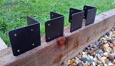 4 X CORNER Timber Railway Sleeper Brackets Wooden Planter Raised Bed Edging