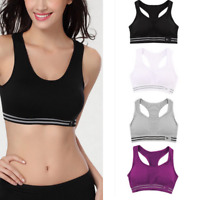 Women Seamless Racerback Sports Bra Yoga Fitness Padded Stretch Workout Top ye