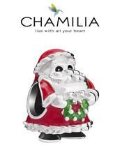 BNIB CHAMILIA 925 silver &  enamel ST NICHOLAS FATHER CHRISTMAS charm bead