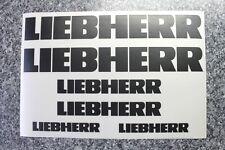 6 x LIEBHERR Aufkleber in schwarz für Radlager Muldenkipper Baumaschinen
