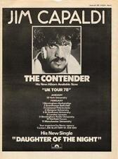 Jim Capaldi Traffic Contender UK Tour advert 1978